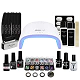Lámpara Led Secador de Uñas UV 48W - Kit Gel de Uñas Set Manicura Uñas Semipermanentes- Kit Edition Deluxe - Cruelty free, Meanail Paris