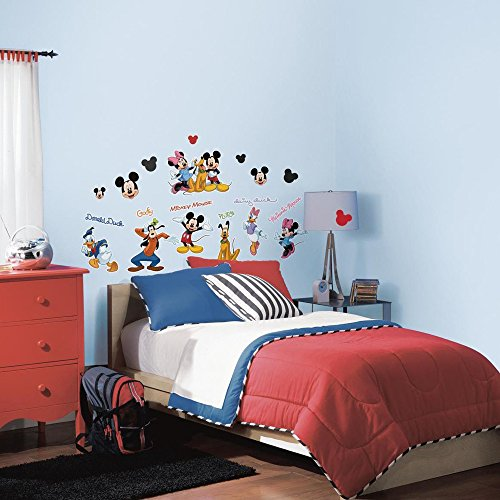 RoomMates Mickey & Friends Peel and Stick Wall Decal - RMK1507SCS, Mickey&Friends