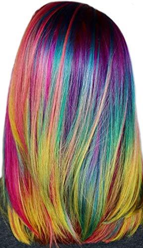 PARTYLANDIA Extension Multicolore per Capelli con Clip per Bambina