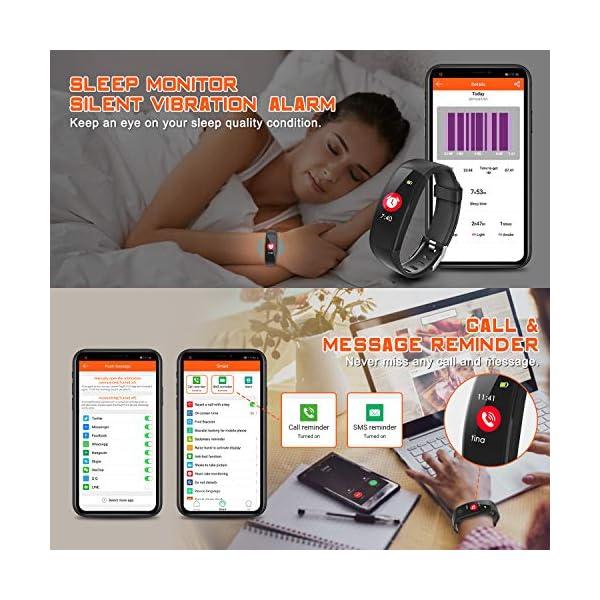 ELEGIANT Pulsera de Actividad Inteligente, Reloj Inteligente IP67 Deportivo 3D UI Hombre Mujer Niño Podómetro con GPS… 4
