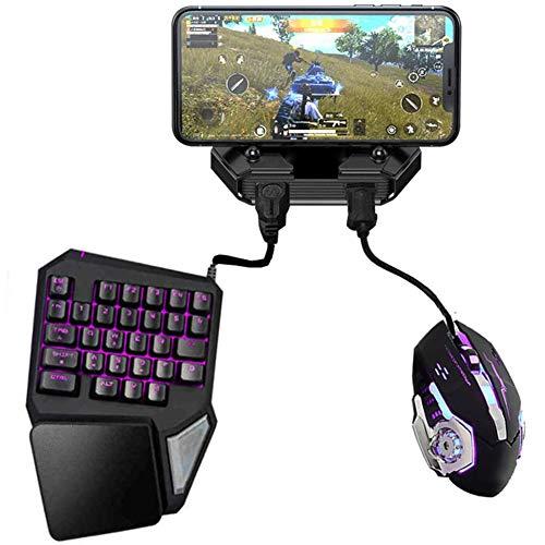 DZSF Battledock Converter Bluetooth 5.0 Gamepad Pubg Mobile PUBG Android Controller Mobile Controller di Gioco con La Tastiera del Mouse per iOS iPad
