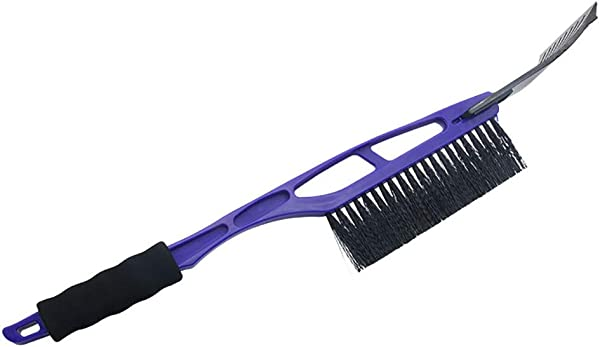 Miklan Car Vehicle Durable Snow Ice Scraper 2 In 1 Snow Brush Shovel Removal For Winter Blue