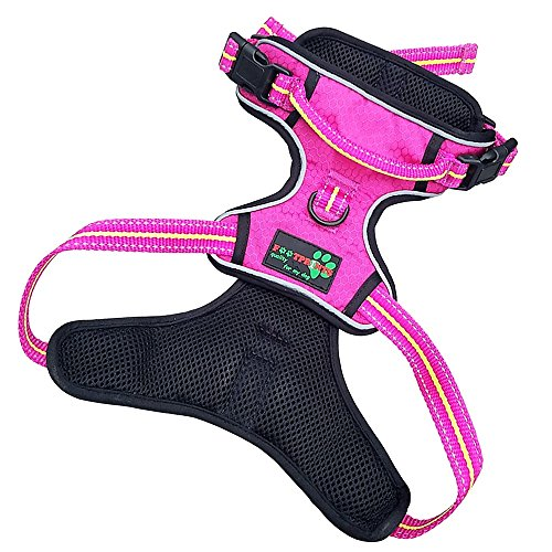 FOOTPRINTS quality for my dog, Reflective Dog Harness Easy to Place, Total Control of Your pet, Adjustable Vest (M,Medium 27-32 Inches (69-81 cm))