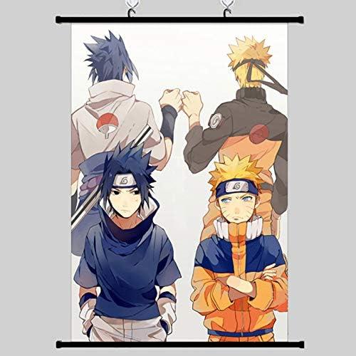 Naruto Poster Wall Scroll Japanese Anime Uzumaki Naruto Uchiha Sasuke Wall Poster Picture Painting product image