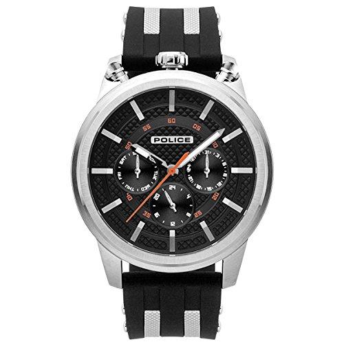 Police Reloj Multiesfera para Hombre de Cuarzo con Correa en Silicona PL.15414JS/02P