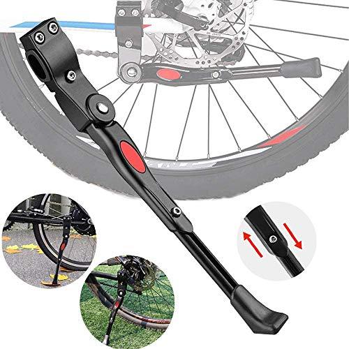 Q-WOOFF Cavalletto Bici, Supporto Portabiciclette Regolabile in Lega di Alluminio, Compatibile per Biciclette con Diametro Ruota di 24-26 Pollici Mountain Bike, Bici da Strada, Bici Pieghevole