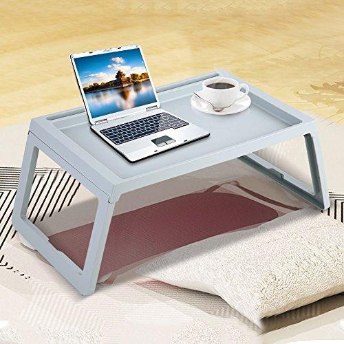 LYJL (Azul Escritorio Plegable Desayuno Mesa De Cama Computadora Portátil Portátil Sirviendo Bandeja