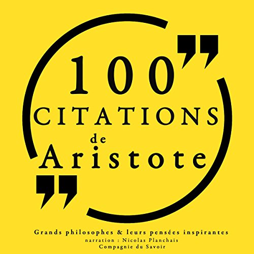 Couverture de 100 citations d'Aristote