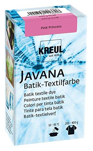 Kreul 98527 - Javana Batik Textilfarbe, 70 g Farbpulver in Pink Princess, zum Färben von Textilien mit der Shibori Technik