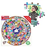 eeBoo Piece and Love Votes for Women 500 Piece Round Circle Jigsaw Puzzle