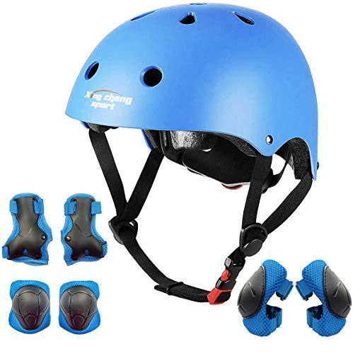 XingCheng-Sport Casco y Equipo de protección para niños (Blue)