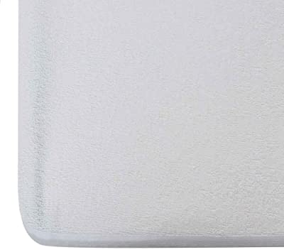 """Wakefit Water Proof Terry Cotton Mattress Protector - 78"""" x 72"""", King Size, White"""