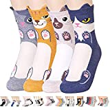 Novelty Socks Gift Sets for Cats Dogs Owls Giraffe Animal Lovers. Funny Crazy White Elephant Gift, Secret Santa Gift Exchange Idea for Women (Balmore Aries)