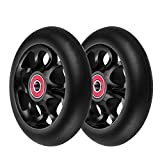 Z-FIRST 2Pcs 110mm Pro Scooter Wheels with ABEC 9 Bearings Fit for MGP/Razor/Lucky Envy/Vokul Pro Scooters Replacement Wheels (Black)