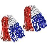 バスケットゴール ネット 2点セット ゴールネット 簡単に取り替え 耐久性のあるバスケット ゴール リング ネット ト レーニング レジャー ファミリースポーツ