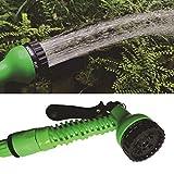 Hanks 'Shop. 50FT Garten WateringPipe 3 mal Teleskoprohr magischer flexibler Gartenschlauch erweiterbar Bewässerungsschlauch mit Kunststoff-Schläuche Teleskoprohr mit Spritzpistole, zufällige Farbe Li