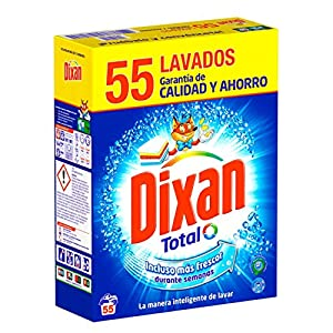 Dixan Detergente en Polvo – 55 Lavados (3,025 Kg)