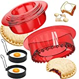 【SAFE FOR KIDS】 NON-TOXIC, 100% free from BPA, PVC, mercury, and phthalates. Safe and Easy to use for your Kids. and don't worry when kids use Tawaya geometric cookie cutter alone. 【Egg Ring Set of 2】Your cooking helper,ideal for making omelet,egg mu...
