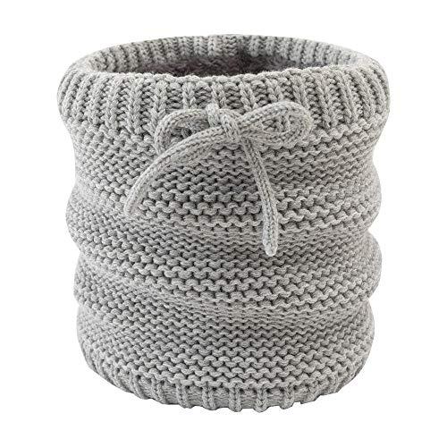 W Invierno Hombres Mujeres Bufanda Sólido Plush Anillo Bufanda Adulto Grueso Bufandas Lana Cuello Cálido Más Bufandas de Cuello de Velvet (Color : Gray)