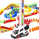 BananMelonBM Domino Train, 211 PCS Kids Automatic Domino Train Toy Set with 3 Touch-Type Trigger for 3 4 5 6 7 Years Old Boys, Girls, Creative Gifts Domino Blocks Set Building and Stacking Toy