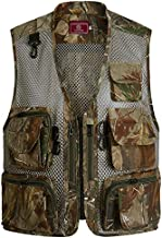 Flygo Men's Fishing Outdoor Utility Hunting Climbing Tactical Camo Mesh Removable Vest with Multi Pocket (Small, Desert 002)