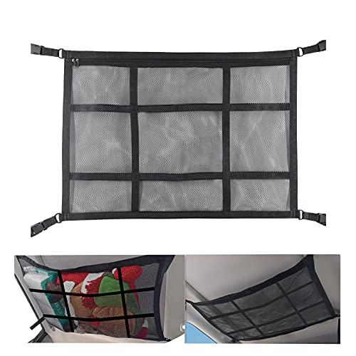 Upgraded Car Ceiling Cargo Net Pocket