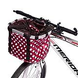 Dailyfun Bicycle Basket Pet Cat Dog Seat Folding Bike Baskets Aluminum Alloy Removable