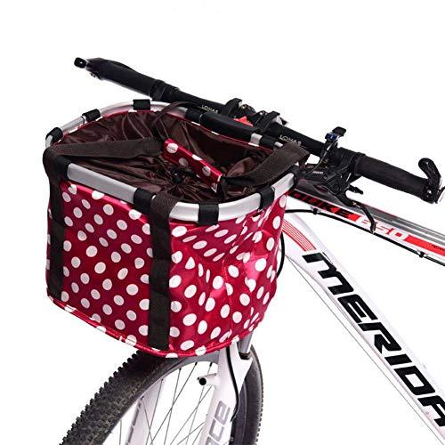 332PageAnn Amovible Sac Panier pour Avant de vélo Femme Universel en Toile - Cadre en Alliage d'aluminium - pour Velo Pliant, VTT - Sac de Shopping Sac à Main ou Animal