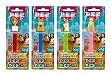 PEZ set de dispensadores Spirit (4 disp. con 3 recargas de caramelos PEZ de 8,5g c/u - 1 dispensador PEZ 2 veces como sorpresa) + 2 paquetes de recargas (8 recargas de caramelos PEZ de 8,5g c/u)