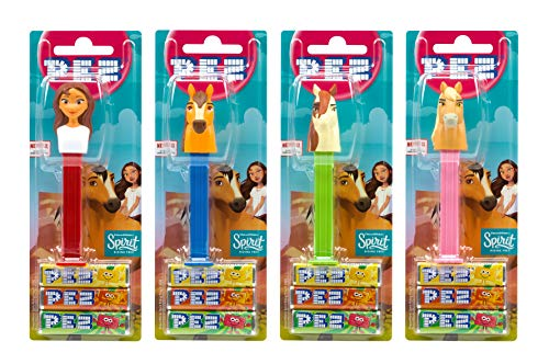 PEZ set de dispensadores Spirit (4 disp. con 3 recargas de caramelos PEZ de 8,5g c/u - 1 dispensador...