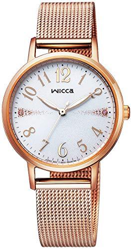 [シチズン] 腕時計 ウィッカ ソーラーテック メッシュベルト KP5-166-13 レディース ピンクゴールド