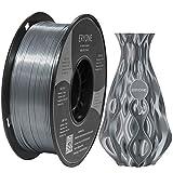 Filamento PLA Plata Ultra Seda 1.75mm, ERYONE Impresión 3D PLA Super Filamento para Impresora 3D y Bolígrafo 3D, 1kg 1 Carrete