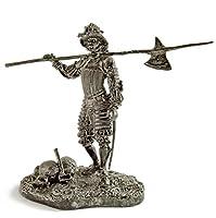 ドイツ。月15-16世紀のLandsknechtの 金属彫刻。Germany. Landsknecht on the march 15-16 century. Tin toy soldiers. コレクション54ミリメートル (スケール1/32) ミニチュア置物。錫のおもちゃの兵士