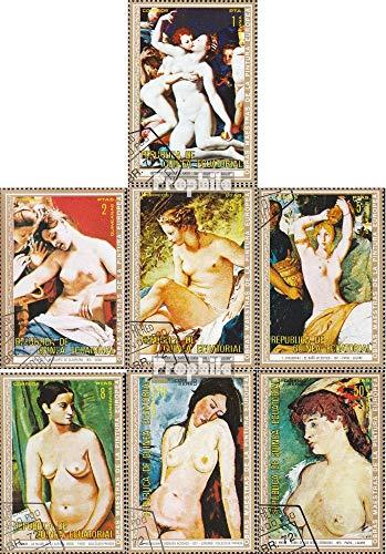 Prophila Collection Äquatorialguinea 267-273 (kompl.Ausg.) 1973 Aktgemälde europäischer Maler (Briefmarken für Sammler) Malerei