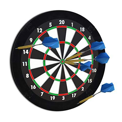 """Relaxdays Dart Auffangring \""""R5\"""", Catchring Dartscheibe, 4-teilig, Surround f. Dartboards, EVA, 45 cm, schwarz"""