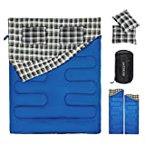 Double Sleeping Bag 2 Person Sleeping Bags with 2...