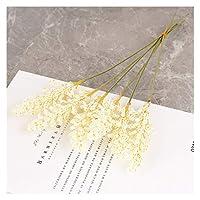 泡小麦耳造花ミニベリーブライダルブーケDiyデコレーションクリスマスアレンジメント穀物偽の花の花輪の装飾 アートフラワー (Color : White, Size : 2 lots (12pcs))