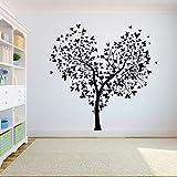 El dormitorio de la pared del árbol El árbol de la vida raíces del pájaro que vuela desde casa en el árbol