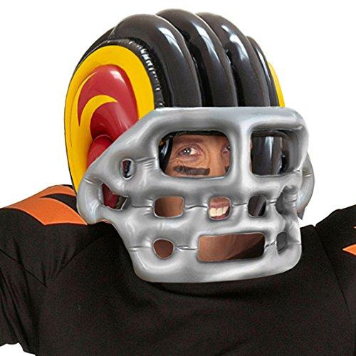 Sporthelm aufblasbar Footballhelm Sport Kopfschutz Footballer Helmet Kostüm Accessoire Sportler Aufblasbarer American Football Helm