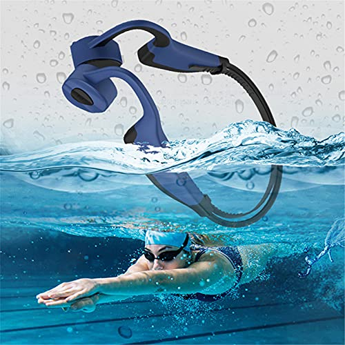 XYQCPJ Bluetooth Auriculares, Conducción ósea IP8 a Prueba de Agua con Micrófono Estéreo Ligero Reducción de Ruido de Llamadas CVC para Correr Conducir Compatible con iPhone Android