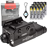 SureFire XC2 Weaponlight Ultra Compact LED Handgun Light with 12 Extra Energizer AAA Batteries and Lumintrail Keychain Light