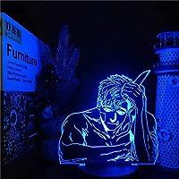 Tatapai 3Dイリュージョンナイトライトアニメキャラクターアニメランプ色変更照明寝室クリスマスギフトテーブルランプ家の装飾