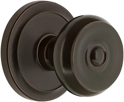 Grandeur 820187 Circulaire Rosette Privacy with Bouton Knob in Timeless Bronze, 2.75