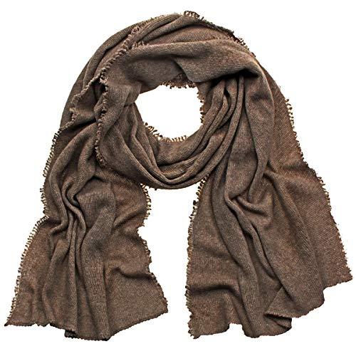 Eagle Products Schal aus 100% Kaschmir für Damen 40 x 200 cm - Made in Germany (braun)