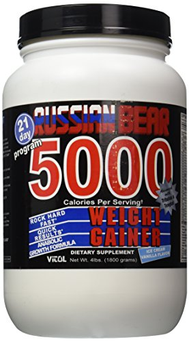 Russian Bear 5000 Gainer Vanil - 4 Pound Powder