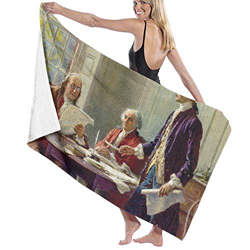 Writing the Declaration of Independence - Toalla de baño (secado rápido, suave, 130 x 80 cm)