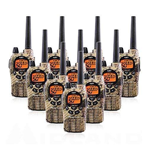 Midland GXT1050VP4 Long Range Walkie Talkie - 50 Channel GMRS Two Way Radio (Mossy Oak Camo, 10 Radios)