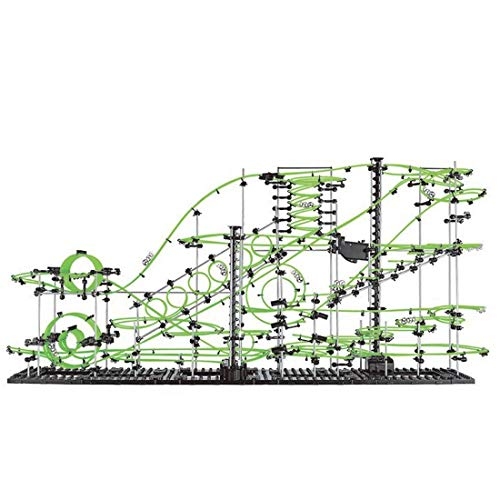 MAJOZ0 Spacerail Kugelbahn,Level 8 Kugelbahn,1337 Stück Kugelbahn Murmelbahn,in der Dunkelheit Leuchtend, Geeignet für Anfänger und Profis, Kunststoff