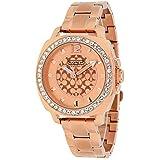 Coach Womens 14501701 Mini Boyfriend Rose Gold Tone Bracelet Watch
