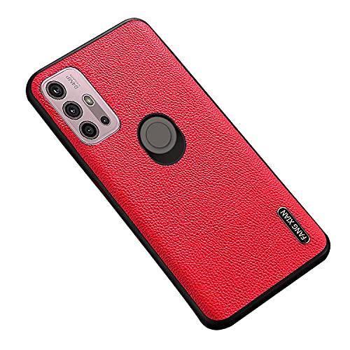 Motorola Moto G10用/G30用 ケース レザー調 シンプル 保護ケース 衝撃吸収 カバー モトローラ モト G10/モト G30 ケース スマホケース おしゃれ スマホカバー スマートフォン ケース カバー(レッド)